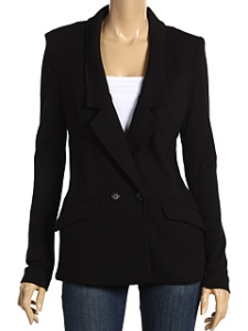 Three Dots 1x1 Combed Cotton L/S Double Breasted Blazer