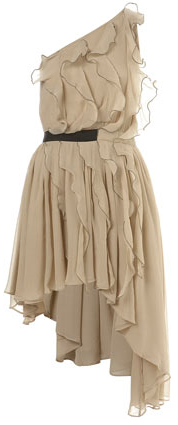 Topshop Waterfall Ruffle Dress