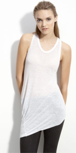 'Threadbare' Asymmetrical Hem Tank