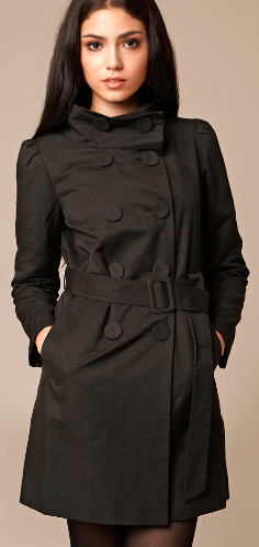 SeeZenn Double Breasted Trench Coat