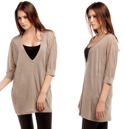SeeZenn Long V Neck Sweater