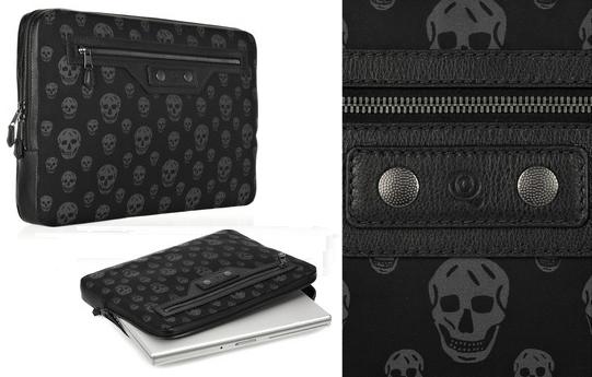 Alexander McQueen Skull-Print Laptop Case