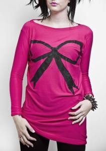 Ribbon Bow hand-painted Tunic""