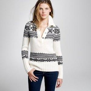 Chunky Fair Isle funnelneck sweater