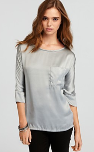 "Joie ""Mikko"" Sandwashed Satin Top"