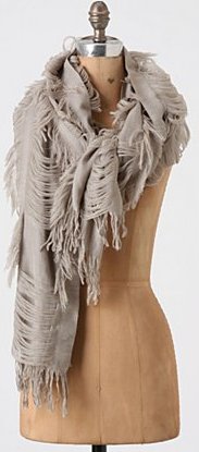 Free flying fringe scarf