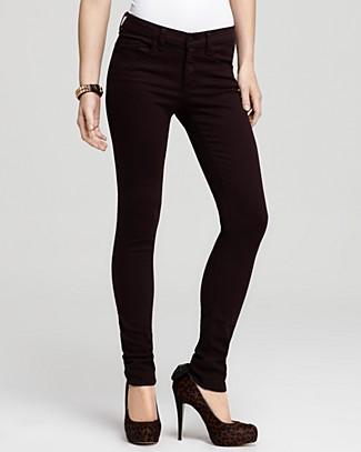 rag and bone skinny jeans in wine