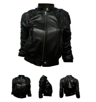 KRMA leather jade jacket
