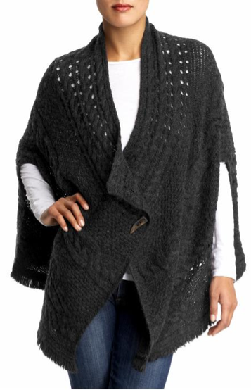 Free People Cable Cape Sweater