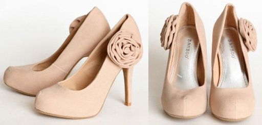 Alysia Flower Applique Heels