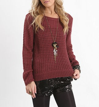 Boxy High Low Pullover Sweater
