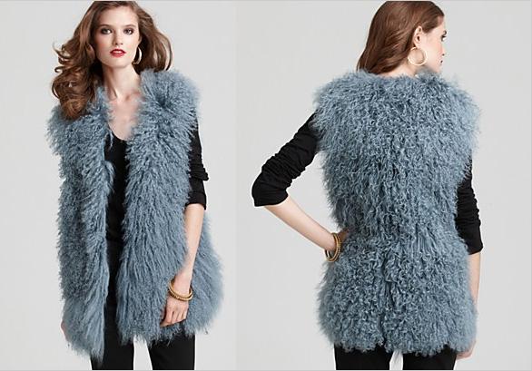DIANE von FURSTENBERG Mongolia Fur Vest