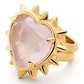 new spike heart ring