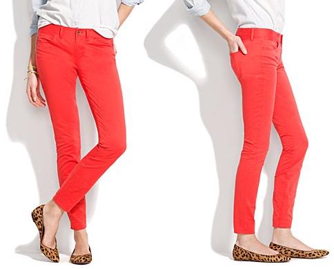 Wild Poppy Skinny Skinny Ankle Colorpop Jeans