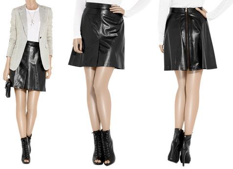 McQ Alexander McQueen High-Waisted Leather Mini Skirt