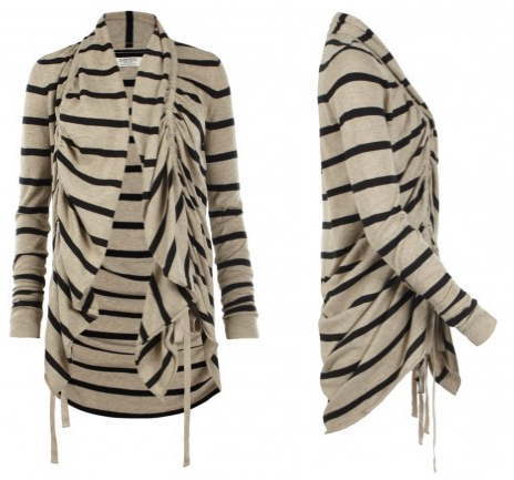 All Saints Stripe Plume Cardigan