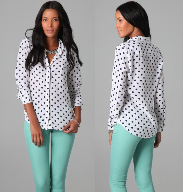 Equipment Earl Retro Dot Blouse