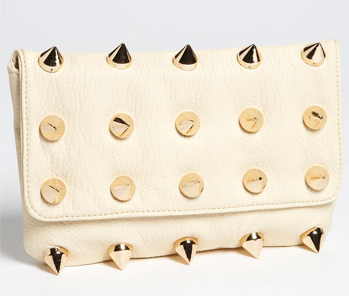 Deux Lux 'Empire' Faux Leather Clutch Ecru
