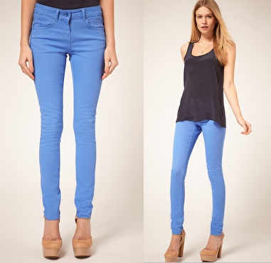 Cornflower Blue Candy Skinny Jeans
