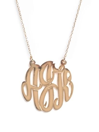 baublebar monogram necklace