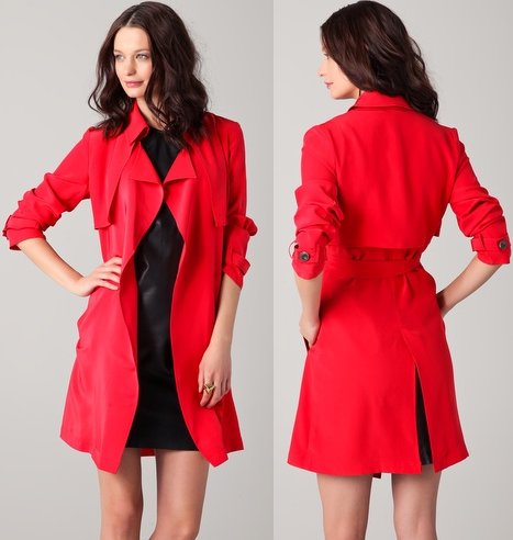 Kelly Bergin Silk Trench Coat Style