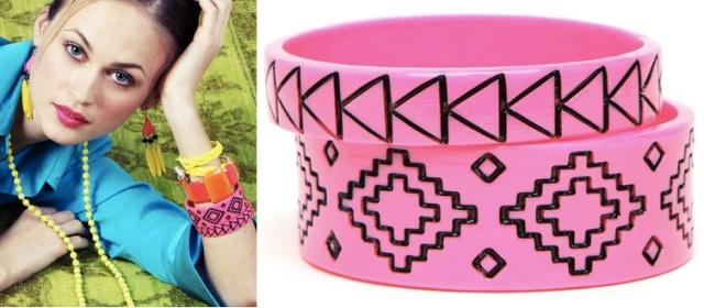 BaubleBar Pink Navajo Bangles