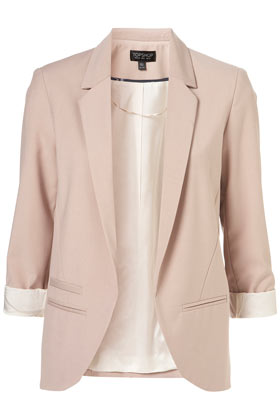 Topshop Pinky Grey Structured Blazer