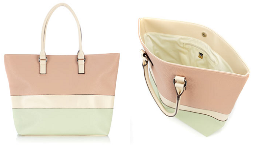 Wallis Pastel Neopolitan Shopper Bag