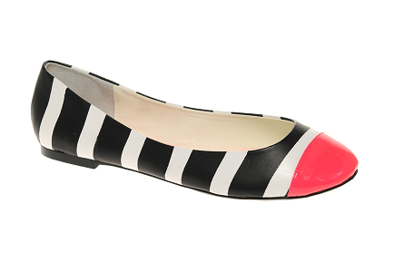 ASOS LADYBUG Toe Cap Neon Ballet Shoes