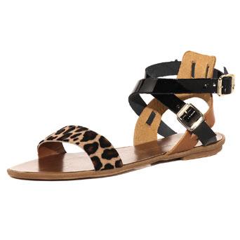 Dorothy Perkins Leopard Ankle Strap Sandals