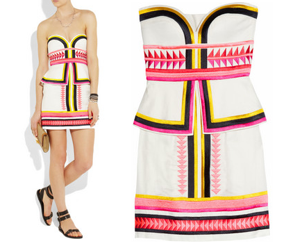 Sass & Bide Pick 'N' Mix Embroidered Strapless Dress