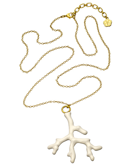 Trina Turk White Coral Charm Necklace