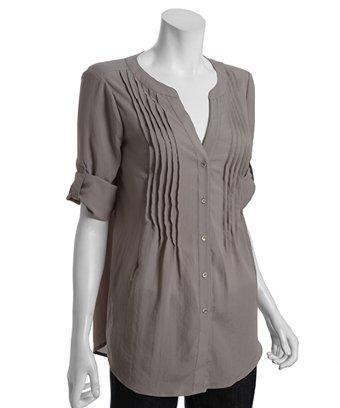 Donna Karan Silk Organza Tunic Blouse 6