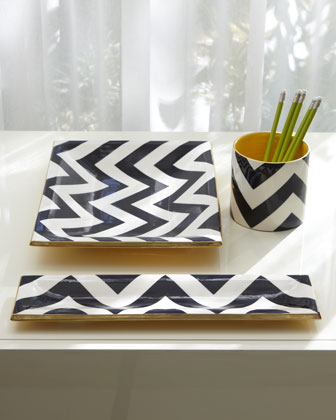 jill rosenwald chevron desk set
