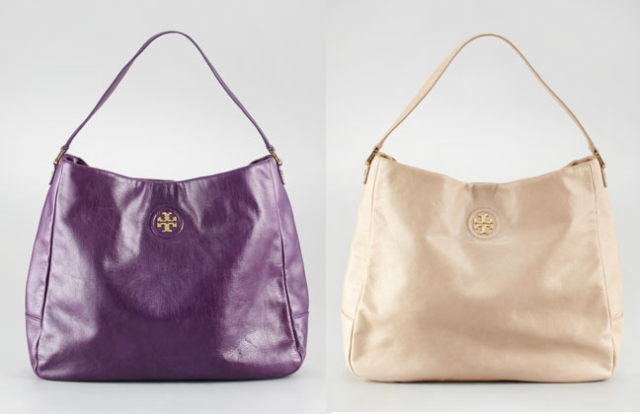 Tory Burch City Leather Hobo Bag