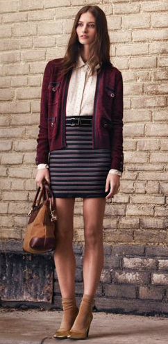 Club Monaco Stephanie Striped Skirt