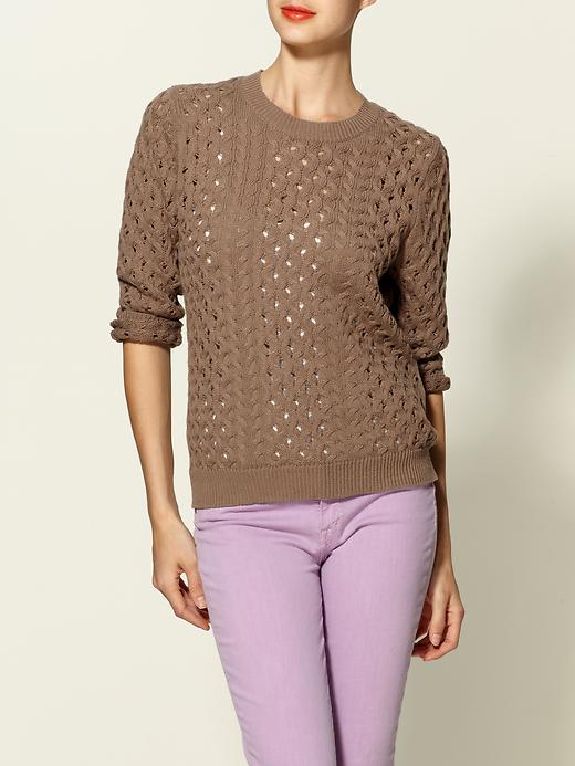 Hive & Honey Spring Cable Pullover Sweater