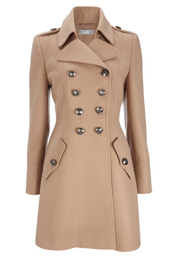 Wallis Camel Military Coat