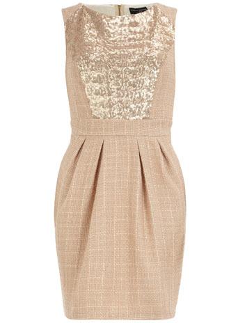 Dorothy Perkins Gold Sequin Insert Dress