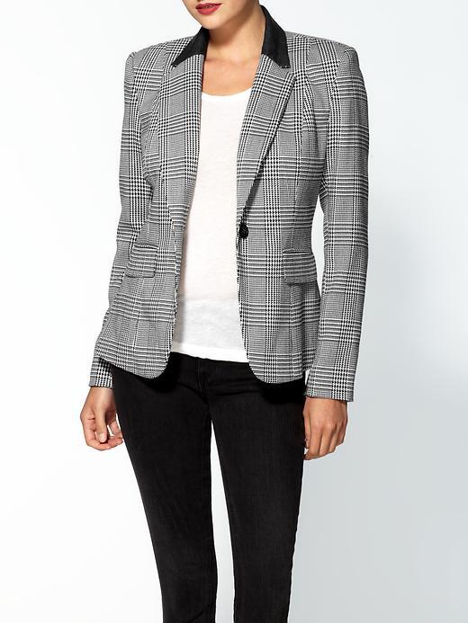 MICHAEL Michael Kors One Button Plaid Jacket