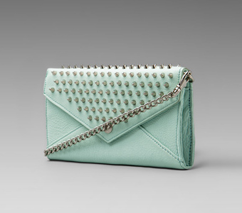 Rebecca Minkoff Mint Spikey Studs Chain Wallet