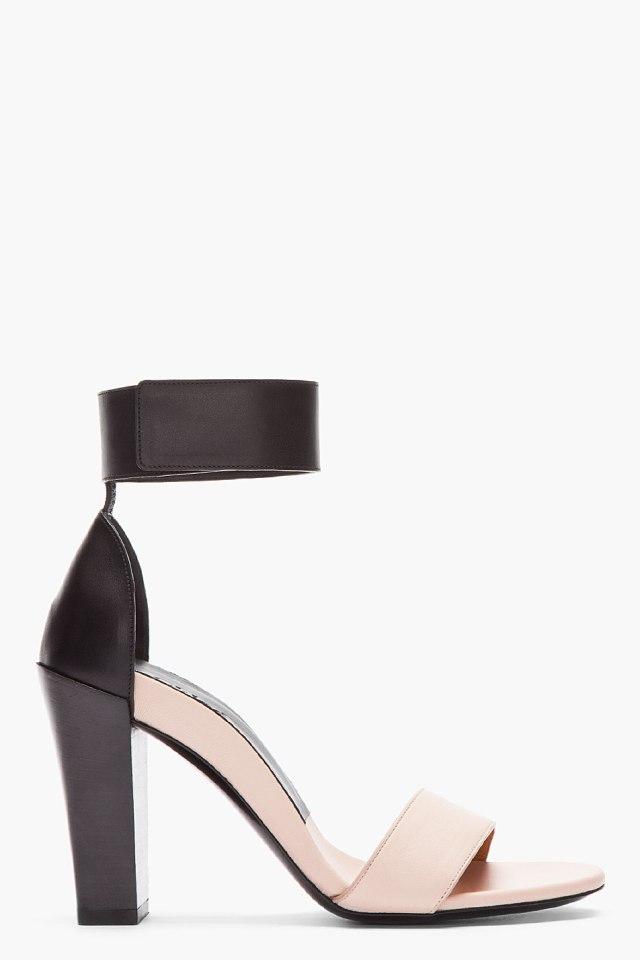 Chloe Nude Bicolor Ankle Strap Sandal