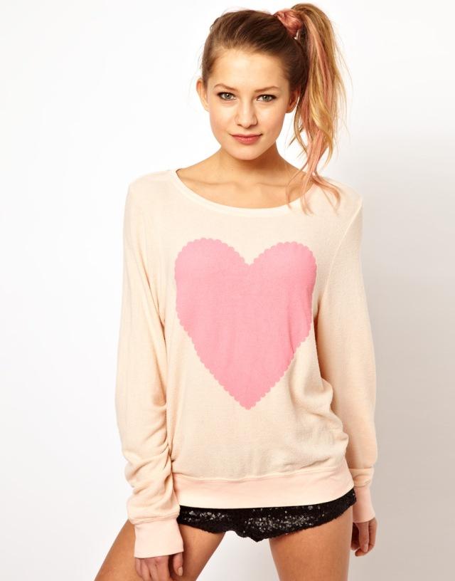 Wildfox Heart Baggy Sweater