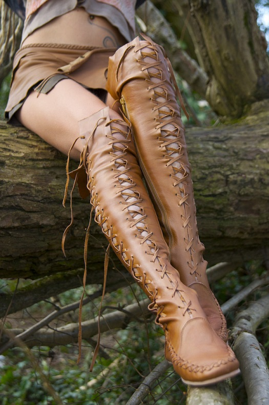 Gipsy Dharma Leather Boots For Women