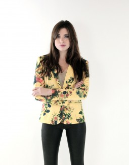 Wizards of the West Yellow Floral Blazer
