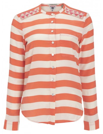 Maison Scotch Silk Stripe Shirt