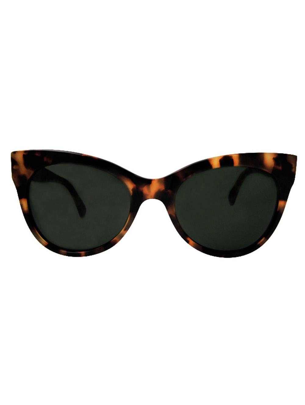 Tokyo Tort Square Cat Eye Sunglasses