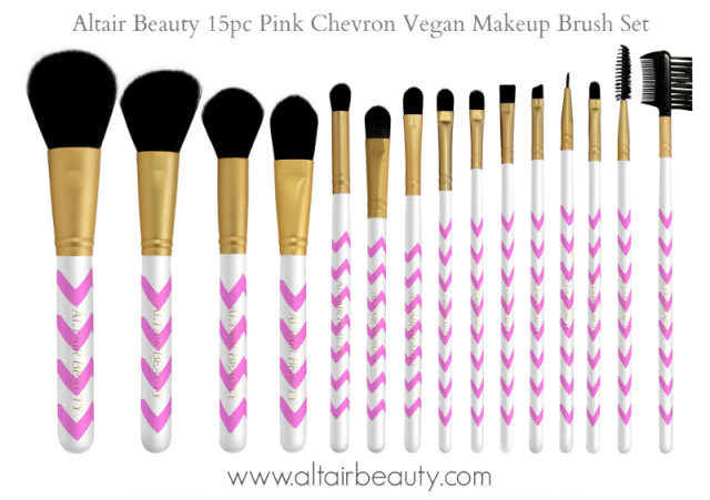 Altair Beauty Chevron Print Vegan Makeup Brushes