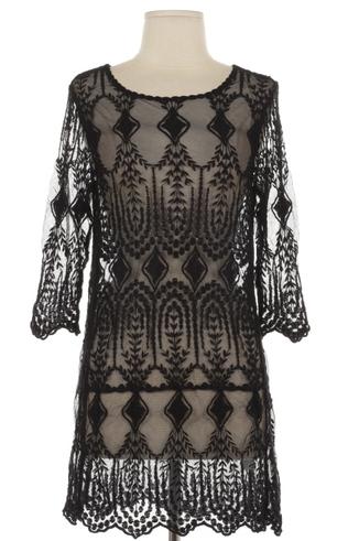 Pin-up Darling Soiree Crochet Dress Top